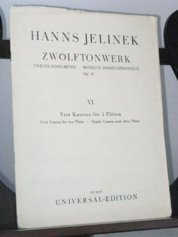 Jelinek H - 12-Tone Music Op 15 No 6 - 4 Canons for 2 Flutes